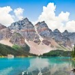 Beautiful landscape with Rocky Mountains and famous Moraine Lake in Banff National Park, Alberta, Canada — Stock Photo