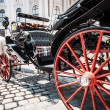 Traditional horse-drawn Fiaker carriage at famous Hofburg Palace in Vienna, Austria — Stock Photo #38810277