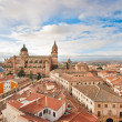 Aerial view of the historic city of Salamanca at sunrise, Castilla y Leon region, Spain — Stock Photo #38810625