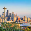 Seattle skyline panorama at sunset as seen from Kerry Park, Seattle, WA — Stock Photo #38810679