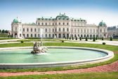 Beautiful view of famous Schloss Belvedere in Vienna, Austria — Stock Photo