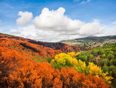 Beautiful autumn landscape near Madrid in the autonomous community of Castilla y Leon, Spain — Stock Photo