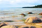 Stony coast of the Baltic Sea — Stock Photo