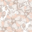 Seamless pattern from flowers in pastel tones — Stock Vector