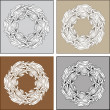 Set of vintage vector frames of flower ornament — Stock Vector
