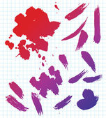 Abstract color blots. Vector illustration — Stock Vector
