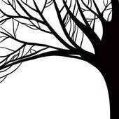 矢量单色轮廓的树 — 图库矢量图片