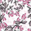 Seamless pattern of pink branches — Stock Vector