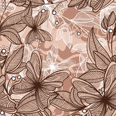Retro flowers - lilies — Stock Vector