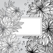 Monochrome floral seamless pattern — Stock Vector