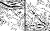 Vector gráficos bocetos - bosque, árboles, raíces — Vector de stock