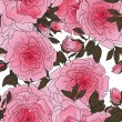 Royalty-Free Stock Vector Image: Vector graphic seamless pattern of pink roses