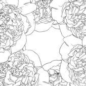美しいバラのシームレスなパターン — ストックベクタ