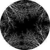μονόχρωμη δέντρο πλαίσιο — Διανυσματικό Αρχείο