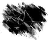 Paper bird on grunge background — Stock Vector
