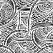 Seamless textile monochrome pattern of lace — Stock Vector