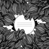 Monochrome fantastic flowers — Stock Vector