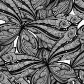 Monochrome textile pattern of butterflies — Wektor stockowy