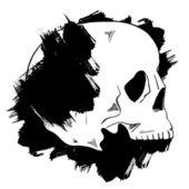 Soyut kafatası ve boya lekeleri — Stok Vektör