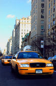 New York taxi cars — Stock Photo