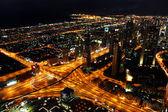 Burj khalifa, gece bak. açık havadan görüntüleme — Stok fotoğraf