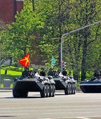 Parade in Moscow — Stock Photo