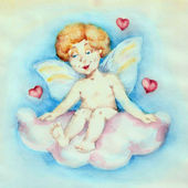 Cupid in the sky — Stock Photo