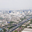 View of Bangkok city from a height — Stock Photo