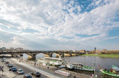 View of the river Elbe in Dresden — Stock Photo