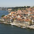 Porto old town with Douro river — Stock Photo