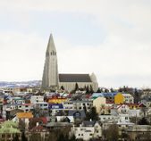 Reykjavic Church Tower — Stock Photo