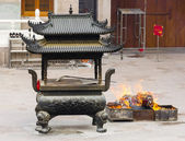 Buddhist Temple Sacred Ash Urn — Stock Photo