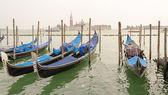 Beautiful Blue Gondolas — Stock Photo