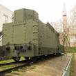 Armoured WWII Russian locomotive class Ov 5067 back view — Stock Photo