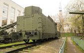 Armoured WWII Russian locomotive class Ov 5067 back view — Stock Photo