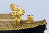 Jing An Golden Dragon Detail — Stock Photo