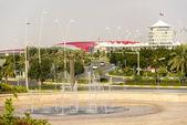 Abu Dhabi Ferrari World Theme Park Building in United Arab Emirates — Stock Photo