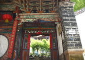 Open entrance to the Zhuyun Ge-Temple of the Guard. — Stock Photo