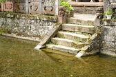Pond sorrounding WenLong Pavilion, Wenchang Gong-Studies Literature Temple. — Stock Photo