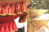 Brass flags, nepali style. — Stock Photo