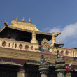 Stock Photo: Gilded roof buddhist temple, Swayambhunath.