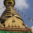 Stock Photo: Swayambhunath Stupseen from south.