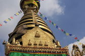 The Swayambhunath Stupa seen from the south. — Stock Photo