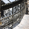 Stock Photo: Wrought iron grate