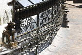 Wrought iron grate — Stock Photo
