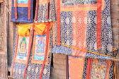 Kathmandu-tibetan thangkas shop in Swayambhunath Stupa area. — Stock Photo