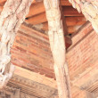 Stock Photo: Patan-three roof beams in Mul Chowk.