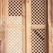 Patan-old wooden lattice window-Mul Chowk. — Stock Photo