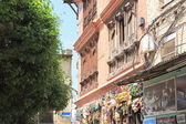 Kathmandu-red brick building in the Swayambhunath Stupa area. — Stock Photo
