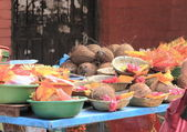 Coconut selling stall in Patan. — Stock Photo